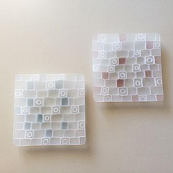 モザイク皿  MATSUO Itcho /mozaic plate  JPY5,000〜