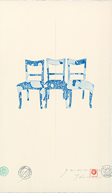"""chair 2015 -bule chair 4"" sheet 26,000JPY"